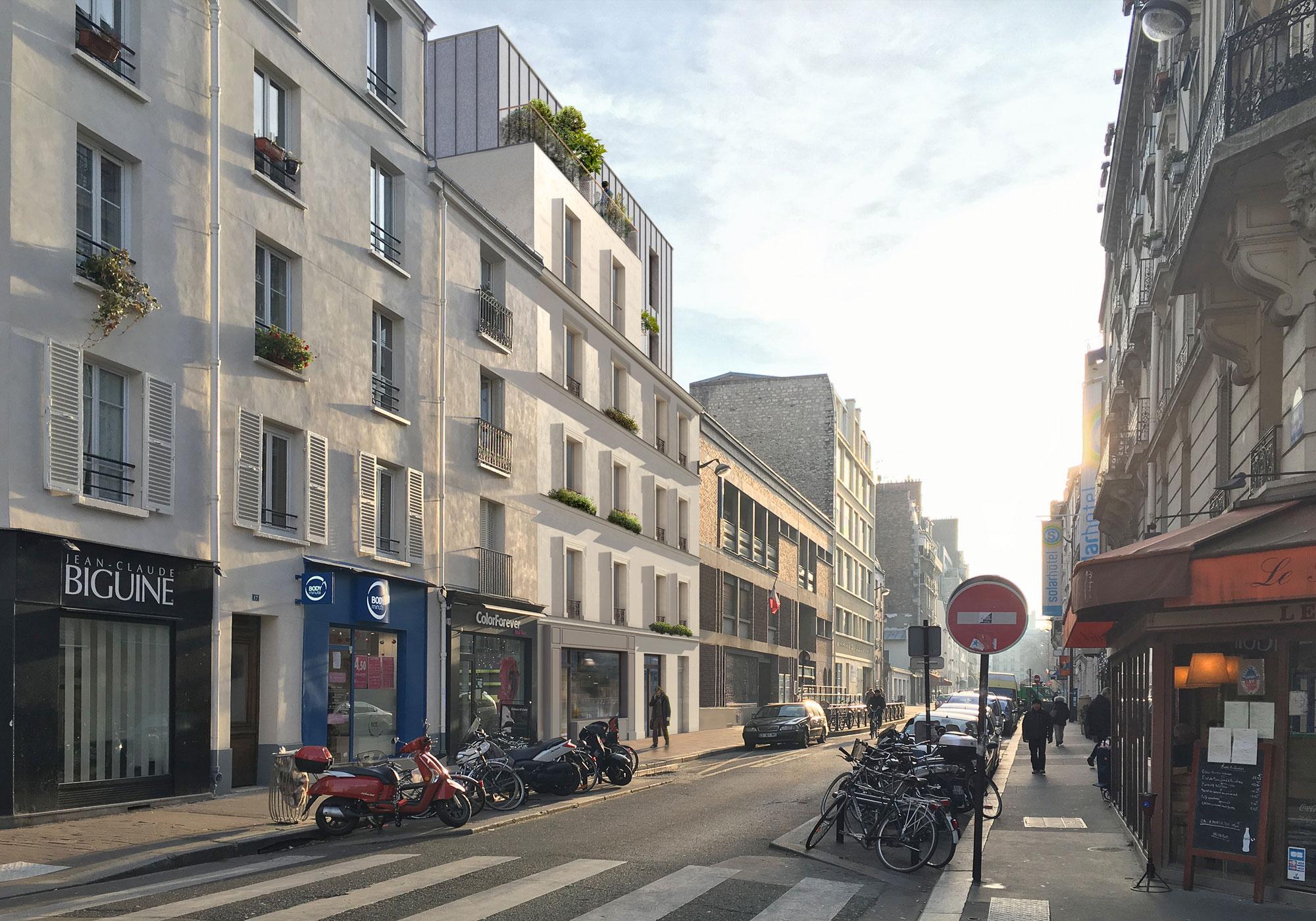 Vue depuis rue Daguerre